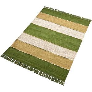 Home Affaire Teppich  »Eden«, 90x160 cm, 5 mm Gesamthöhe, grün