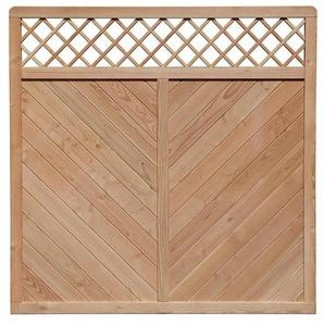 Sichtschutz Zaun Fiona Lärche Zaunelement 180x180cm