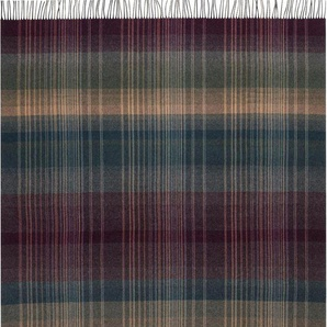 Biederlack Wolldecke »Striped Check«, 130x170 cm, bunt