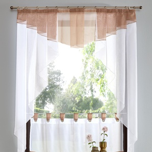My Home Gardine »Xanten«, H/B 80/80 cm, braun, transparenter Stoff