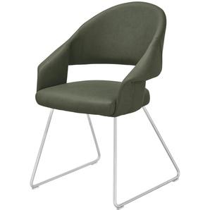uno Kufenstuhl  Lena ¦ grün ¦ Maße (cm): B: 61 H: 83 T: 62 Stühle  Esszimmerstühle  Esszimmerstühle mit Armlehnen » Höffner