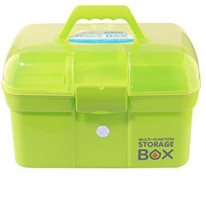 GANADA Hausapotheke Box Aufbewahrungsbox 2 Schichten Erste Hilfe Box Medizinbox Aufbewahrungskasten Lagerung Medikamente für Familie, Reisen, Rettung