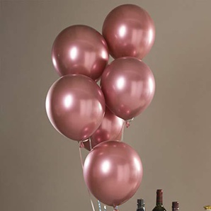 Latex-Luftballons, 30,5 cm, matt, Heliumqualität, rund, matt, 50 Stück Free Size rose gold