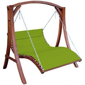 ASS Design Hollywoodliege Hollywoodschaukel Aruba-OD aus Holz Lärche ohne Dach GRÜN von