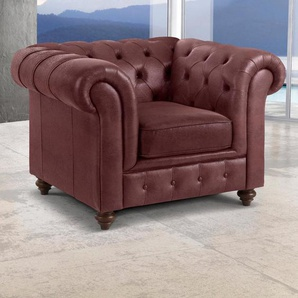 Premium collection by Home affaire Sessel »Chesterfield«, rot, Luxus-Microfaser Snake