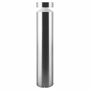 Ledvance GmbH BOLLARD LED-Pollerleuchte, 6W, 1LED, IP44, 3000K, 360lm, grau, Edelstahl, Kunststoff opal