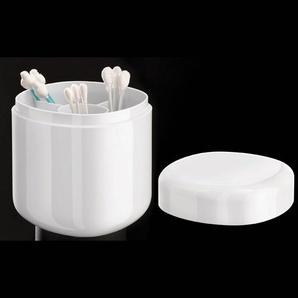 Coole Bad-Accessoires von Alessi Birillo Wattestäbchen-Box, hochwertiges Acrylglas, blütenweiß
