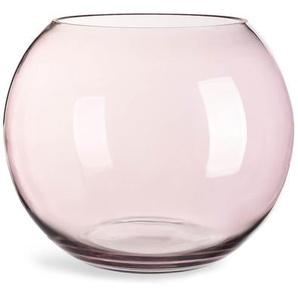 Kugelvase, Glas, D:30cm x H:25cm, rosa