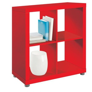 Raumteiler MAJA Lack Rot matt Nachbildung ca. 80 x 83 x 35 cm