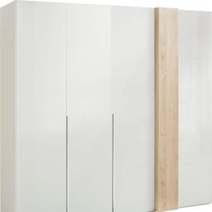 Drehtürenschrank in Weißglas mit Dekorfront »fontana«, Breite 225 cm, FSC®-zertifiziert, set one by Musterring