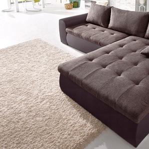 Raum.id Ecksofa, braun, hoher Sitzkomfort