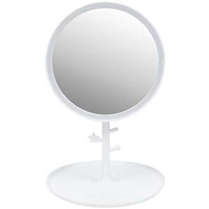 Darcyk Kosmetikspiegel Led Desktop mit Licht füllen Licht HD Touchscreen wiederaufladbare Desktop Faltung tragbaren Kosmetikspiegel-Weiß
