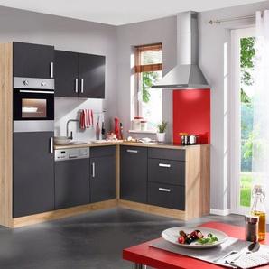 Küchenzeile mit E-Geräten »Toronto Winkelküche, Breite 230x170cm«
