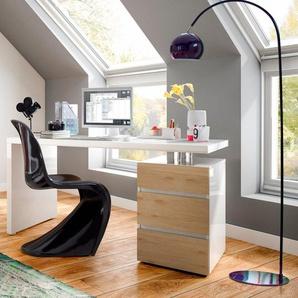 HMW Schreibtisch »Barna«, mit Container und griffloser Optik