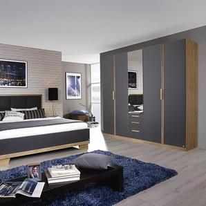 PACK´S Schlafzimmer-Set »Altona«, Set mit 5-trg. Kleiderschrank, Rauch