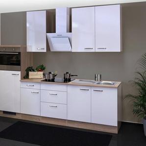 Küchenzeile mit E-Geräten »Valero«, Gesamtbreite 270 cm