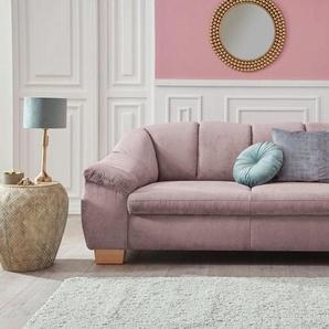 sit&more 3-Sitzer, mit Federkern, rosa, Struktur weich