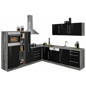 HELD MÖBEL Winkelküche »Samos«, ohne E-Geräte, Stellbreite 260 x 270 cm, schwarz