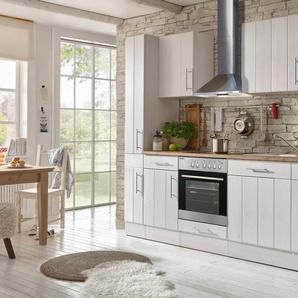 RESPEKTA Komplett-Set: Küchenzeile mit E-Geräten »Ulm«, Breite 250 cm