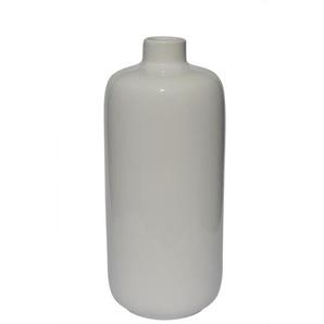 Flaschenvase /Vase aus Keramik H 35 /Ø 15 WHITE Weiß glänzend