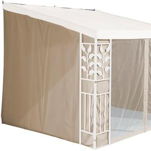 KONIFERA Seitenteile für Anbaupavillon »Salina 2«, 3x3 m / 3x4 m, sandfarben