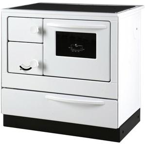 THORMA Festbrennstoffherd »ÖKONOM 85 d«, Stahl weiß, 7 kW, Kochfeld Stahlplatte, Dauerbrandherd
