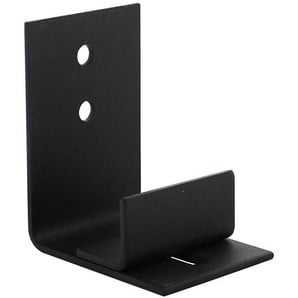 Wandführung Bodenführung Wandmontage Schiebetürsystem Schwarz 47mm x 68mm - INTERSTEEL
