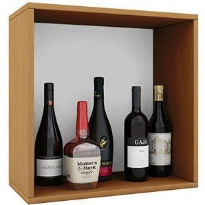 VCM Weino I Weinregal Serie/Weinschrank Regal/Standschrank Holzdekor Buche 52 x 52 x 25 cm