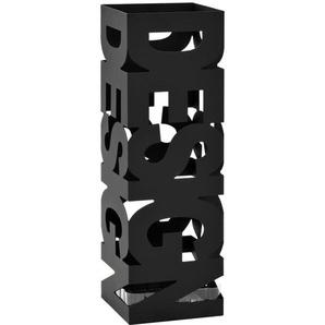 Regenschirmständer Design Stahl Schwarz - VIDAXL
