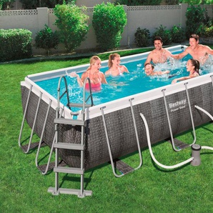 BESTWAY Set: Framepool »Power Steel™ Deluxe™«, 7-tlg., BxLxH: 201x404x100 cm