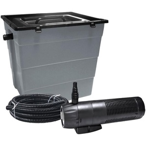 HEISSNER Teichfilter »SMARTLINE HLF6000-Set«, mit UVC-Klärer, Förderleistung: 1.000 l/h