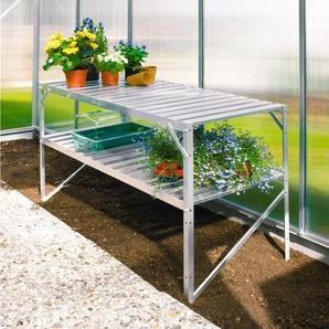 VITAVIA Pflanztisch für Gewächshäuser, BxTxH: 121x54x76 cm, aluminiumfarben