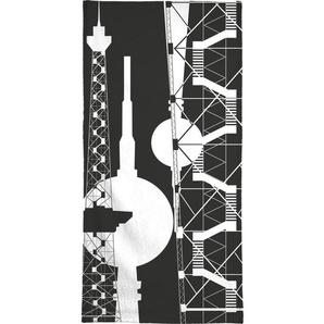 Berliner Fernsehturm & Funkturm  2 - Strandtuch