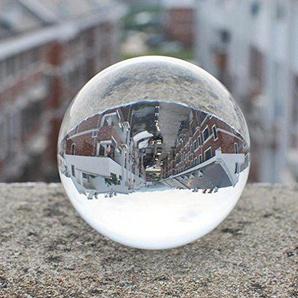 BigButterflyde 80mm K9 Kristallkugel Glaskugel für Heilung, Fotografie Kristall, Feng Shui, Haus/Büro Dekorationen mit Abnehmbaren Basis