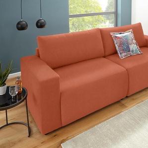 Domo Collection Bigsofa, rot, Inklusive Zierkissen, hoher Sitzkomfort