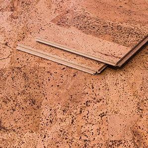 CORCASA Korkboden Design strukturiert lackiert Klicksystem warmer Kork Bodenbelag Klick Karakum