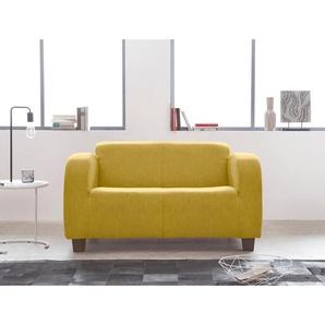 Inosign 2-Sitzer »Cuba«, gelb, B/H/T: 135x43x55cm, hoher Sitzkomfort