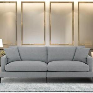 Leonique Big Sofa »Cozy«, grau, B/H/T: 252x46x61cm, Inkl. Zierkissen, hoher Sitzkomfort