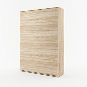 Schrankbett CONCEPT PRO Wandklappbett - Vertikal (140x200 cm, sonoma eiche)