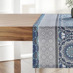 Garten-Tischläufer  Lara ¦ blau ¦ 65% Polyester/ 35% Baumwolle ¦ Maße (cm): B: 40