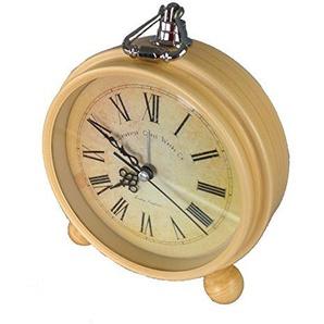 GMMH Tischuhr Nostalgie Antik Vintage Retro Metall Standuhr Wecker Uhr Design (14-2)