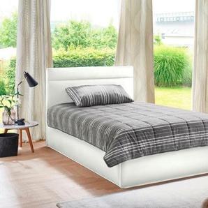Westfalia Schlafkomfort Polsterbett, in 2 Liegehöhen und diversen Ausführungen, wahlweise mit Bettkasten, weiß, Kunstleder