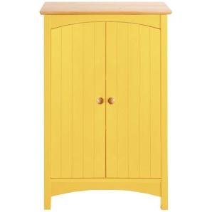 Kommode mit Doppeltür, gelb, Gr. 90/60/35 cm,  home