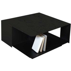 Sofa Beistelltisch im Industry Design Stahl in Schwarz