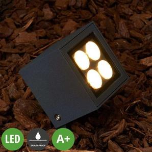 Erdspießstrahler Charlie mit LED für außen, IP65 - LAMPENWELT