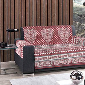 Capitan Casa Sofaüberwurf gesteppt Typ Tirol 3 Posti rot