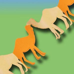 Unbekannt Kamelgirlande, 3m Länge