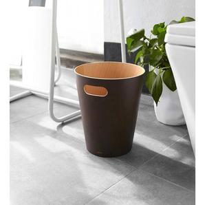 Umbra Woodrow Abfalleimer espresso  Ø 23 x 28 cm 082780-213