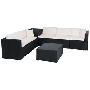 Polyrattan Sitzgruppe Gartengarnitur Rattan Lounge Gartenmöbel Set Rattanmöbel - ESTEXO