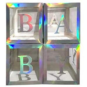 PowerBH Transparente Quadratische Dekoration Box DIY Geburtstag Urlaub Hochzeit Party Latex Ballon Dekoration Rahmen Kreative Geschenkbox
